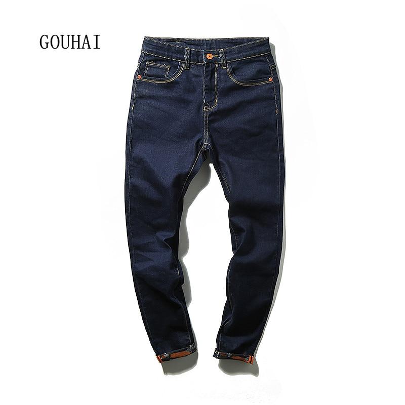 2016 European American Style Men Jeans Solid Plus Size New Design Slim Fashion Jeans For Men