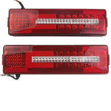 1 Pair Car LED Rear Taillights Stop Brake Tail Lights for 24V Scania Truck Trailer Caravan стоимость