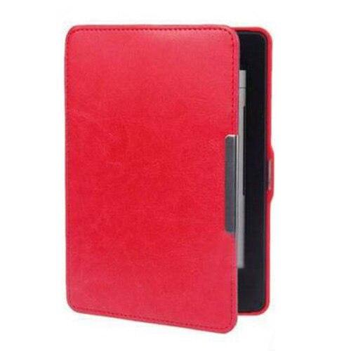 Slim Magnetic Leather Smart Case Cover for Amazon Kindle Paperwhite 1 2 3 WiFi red premiu ultra slim pu leather smart case cover for new amazon kindle paperwhite 5 4 8
