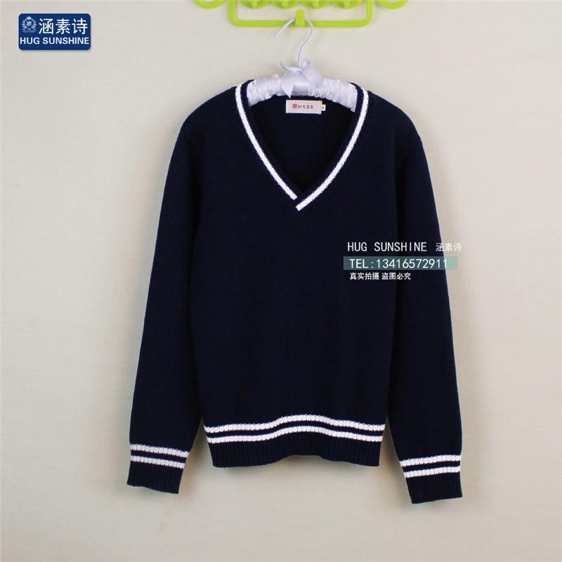 JK Cosplay Sweater Japan School Uniform V,neck Knitted Sweaters Cotton Long,sleeve Preppy