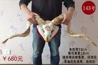 Голова искусств ремесел тибетской Овцы череп образца ремесленных покрытием Медь процесс домашнего интерьера Тау Sheepshead декоративные ручки