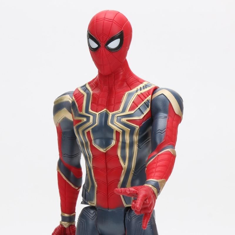 30cm Iron Spider Pvc Action Figure Titan Hero Series Marvel Toys The Avengers Figures Ironman Super Hero Collection Model Dolls #4