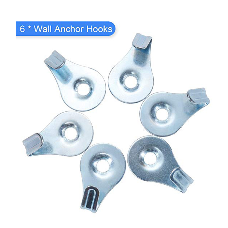 Wall Anchor Hooks for Drywall Drywall and Hollow-Wall Anchor Assortment Kit Anchors Drywall Anchor Kit and Hollow-Door Toggle Anchor Screws white100pcs