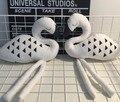 Белый Лебедь Новый 24 см Милый Ручной Животных Декоративные Куклы С Ребенка Спать Фламинго Игрушки Детская Комната Оформлены Подарок На День Рождения
