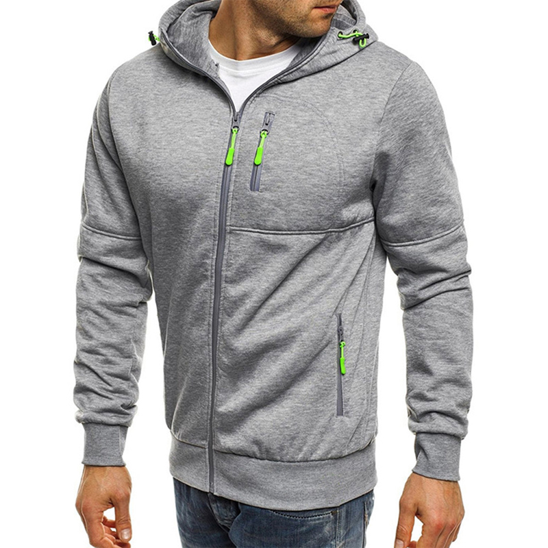 2018 Autumn Winter Hoodies hot Sale Hooded Sweatshirt Men Male Pocket Zipper Tracksuit Men's Casual Fitness Cardigan Outwear
