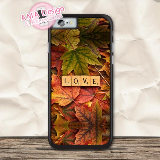 Love In Autumn Pattern Print Protective Case For iPhone X 8 7 6 6s Plus 5 5s SE 5c 4 4s For iPod Touch
