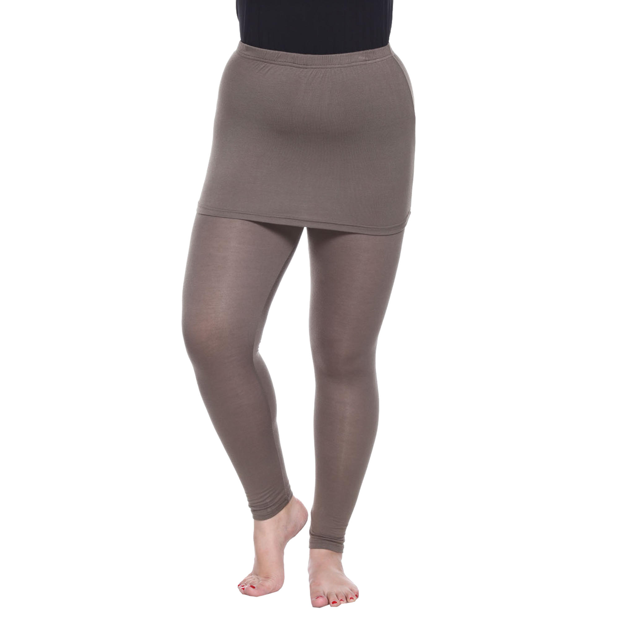 Plus Size Skirted Leggings - Olive
