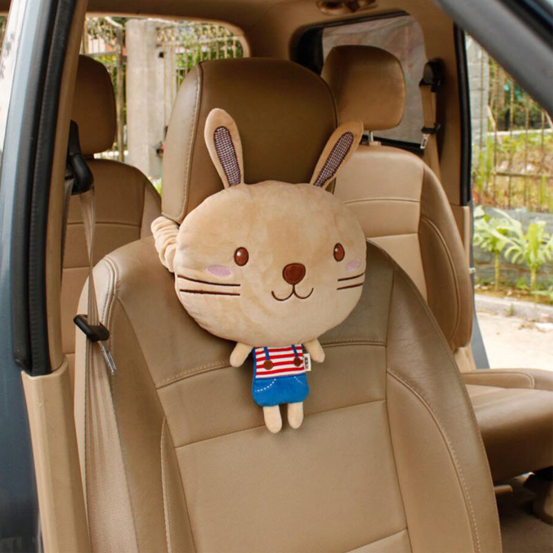 New style Car Headrest Neck Pillow Super Soft Cartoon Cute Head Rest Travel Support Auto Neck Protection Pad Car Accessories in Neck Pillow from Automobiles Motorcycles