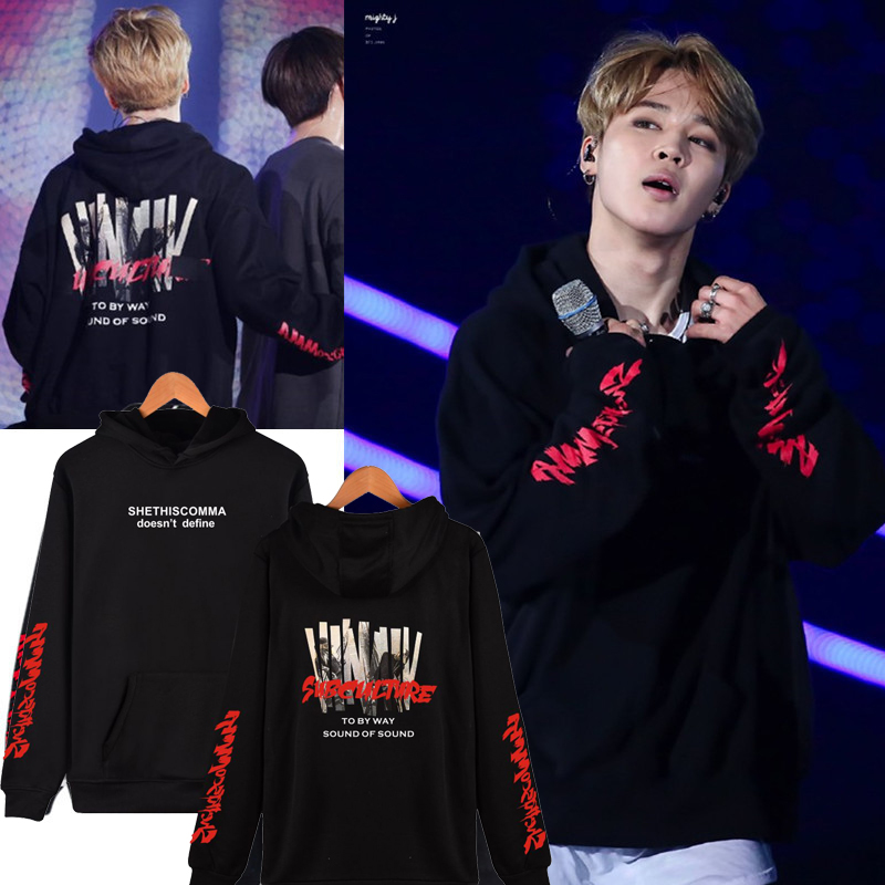 BTS Kpop Bangtan Boys JIMIN Women Hoodies Sweatshirts Fashion Streetwear Harajuku Casual Sweatshirt Women Oversize Sweatshirt