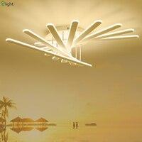Современные вентилятор модель Dimmable потолочные светильники белый Алюминий Гостиная светодиодный потолочный светильник Спальня потолочные