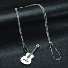 Men's Guitar Shaped Pendant Necklace