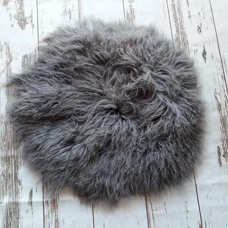 Vintage Plush Wool Fur Newborn Photography Fur 100% Lamb