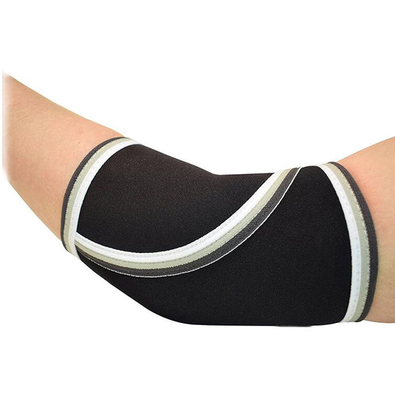 Image 4 - Gym fitness compression elbow sleeves neoprene weightlifting elbow pad protector Powerlifting Dumbells Arm brace sports safety-in Elbow & Knee Pads from Sports & Entertainment