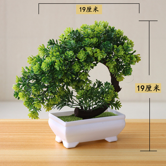 NEW Artificial Plants Bonsai Small Tree Pot Plants Fake Flowers Potted Ornaments For Home Decoration Hotel Garden Decor 3