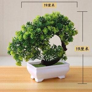 Image 3 - نباتات اصطناعية جديدة بونساي أصيص شجرة صغير نباتات زهور مزيفة بوعاء زينة للمنزل ديكور حدائق الفنادق