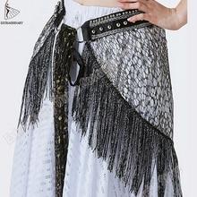 Neue Hüfte Schal Tribal Stil Zubehör Frauen Bauchtanz Gürtel Quaste Dreieck Bauchtanz Schal Hüfte Perle Hand Made Einstellbar