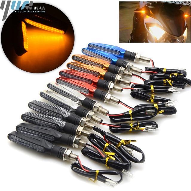 for honda CBR900RR CBR1000RR CBR954RR CB600F HORNET 250 600 900 Universal 12V LED Motorcycle Turn Signal Indicators Lights/Lamp