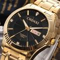 Calendario CHENXI Reloj de Oro Los Hombres de Primeras Marcas de Lujo de Cuarzo Relojes de Pulsera Hombre Reloj de Oro reloj de cuarzo Relogio masculino Hodinky