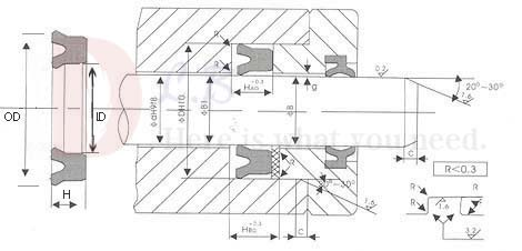 UN 10X16X4 U Cup seal Transparent Single Lip Hydraulic cylinder Seal Piston and Rod seal U