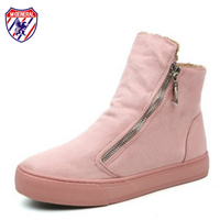 M GENERAL Women Pink Boots For Winter Autumn 2017 New Fashion Trends Female Snow Boots Ankle