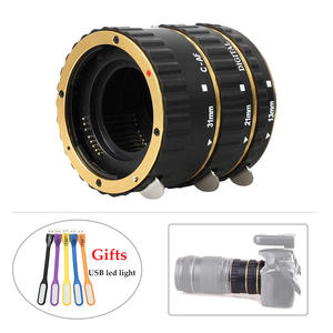 Pixel Macro Extension Tube Ring Lens Adapter For Canon DSLR With Mini Flexible USB