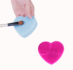 Image 4 - 1PC Silicone Fashion Heart Shape Egg Cleaning Glove Makeup Washing Brush Scrubber Tool Cleaners Cleaning Brush OK 0806