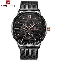 NAVIFORCE Brand Watches Men Quartz Watches Man's Steel Watch Drop Shipping Wholesale Fashion Auto Date Wristwaches Reloj Hombre