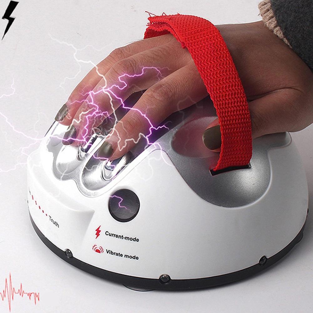 Test du polygraphe Tricky Drôle Réglable Adulte Micro Choc Électrique Lie Detector Shocking Liar Vérité Partie consoles de jeux Cadeaux Jouet