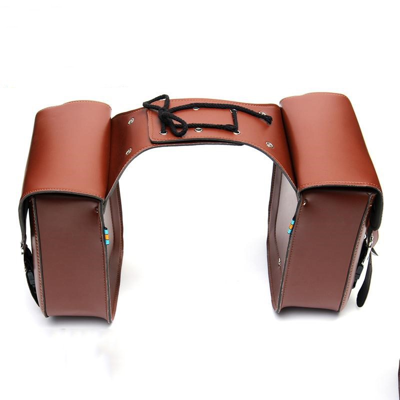 2019 Motorcycle Motorbike Saddlebags Saddle Bags Luggage Tool Bag PU Leather Bag for Harley Sportster Dyna For BMW R1200gs moto (7)