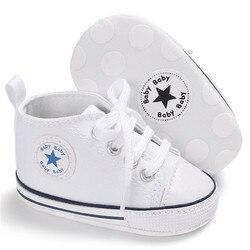Классическая Повседневная парусиновая обувь для малышей; спортивные кроссовки для новорожденных; Детские ботиночки; детские мокасины