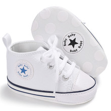 Classic Casual Canvas Baby Shoes Newborn Sports Sneakers First Walkers Kids Booties Children Moccasins стоимость