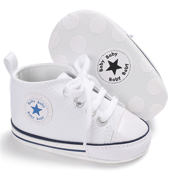 Classic Casual Canvas Baby Shoes Newborn Sports Sneakers First Walkers Kids Booties Children Moccasins