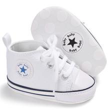 Klasyczna casual Canvas Baby buty noworodka sportowe sneakers First Walkers dzieci Booties dzieci mokasyny tanie tanio Dziecko Wiosna jesień Pasuje do rozmiaru Weź swój normalny rozmiar Unisex Sznurowane Bawełna YYQULING Stałe Płótnie