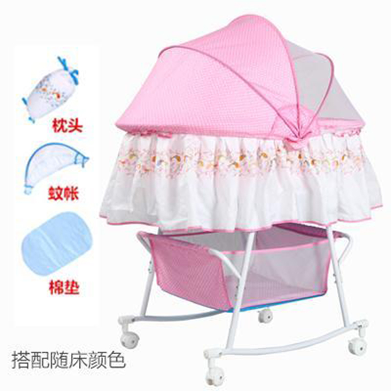 Baby Cradle Bed Small Concentretor Newborn Perambulatory Band Mosquito Net Multifunctional Bb With Roller Sleeping