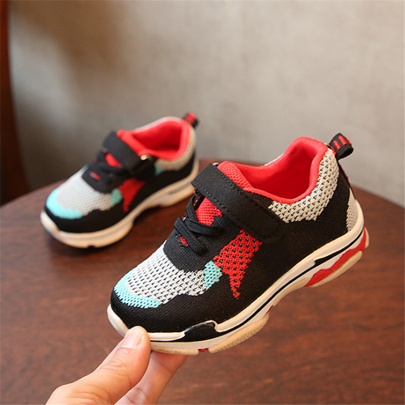 DIMI 2018 Spring Children Shoes Boys Girls Sport Shoes Brand Casual Mesh Breathable Non-slip Kids Shoes For Girl Baby Sneakers цена