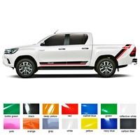 car accessories modified stickers 4pc stripe graphic Vinyls pickup protect scratch decals custom FOR TOYOTA HILUX VIGO REVO