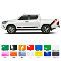 car accessories modified stickers 4pc stripe graphic Vinyls pickup protect scratch decals custom FOR TOYOTA HILUX VIGO REVO