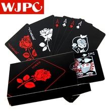 New Plastic PVC Poker Waterproof Black Playing Cards Creative Gift Durable Magic Poker Game Poker Set