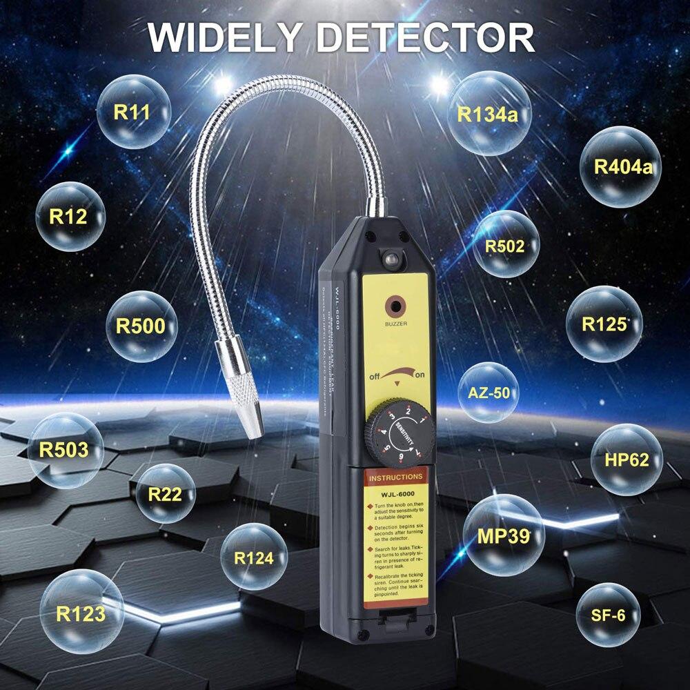 Halogênio gás Freon Detector De Vazamento De Refrigerante de Alta Precisão e Instantânea Gás Halogênio Vazamento Tester para Hfc Cfc Cfc R134a R410a