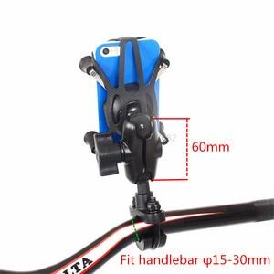 Image 4 - Jadkinsta X Grip Mount Holder Adjustable Motorcycle Rear View Mirror Mount Handlebar with 6cm Double Socket Arm for Gopro Phone