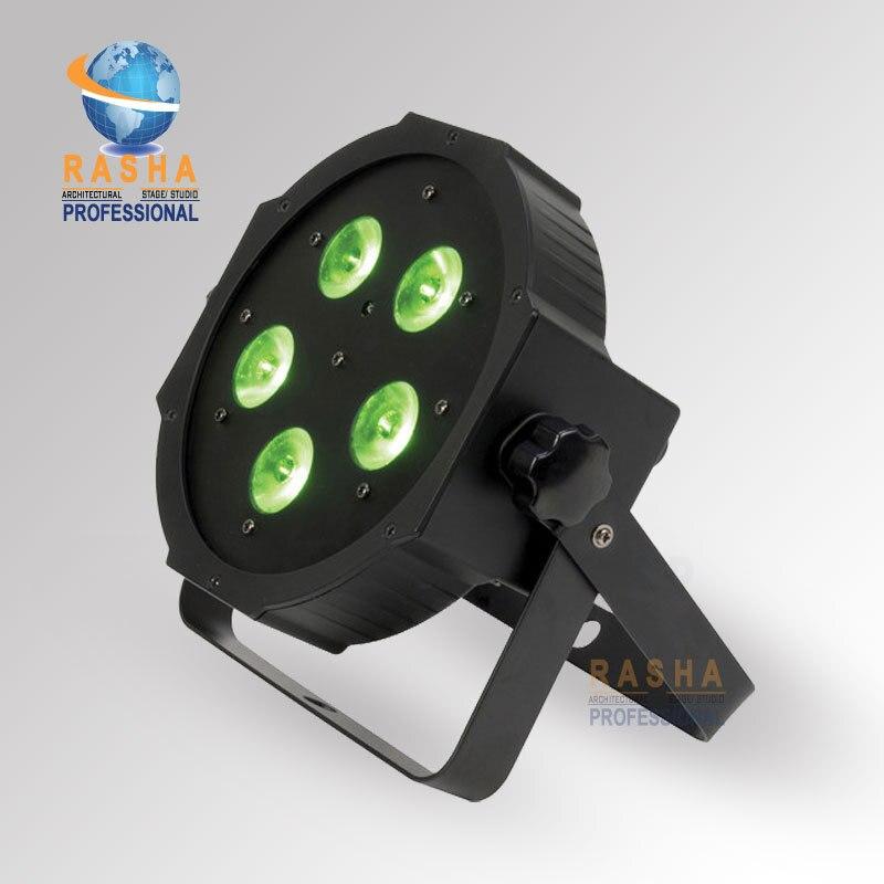 ФОТО 5*18W 6in1 RGBAW+UV Mega Quadpar Profile LED Par Light , DMX Par Can For Event Party