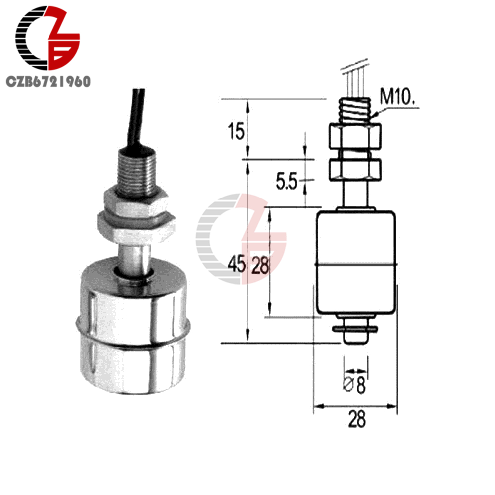 Mini Indicator Vertical Water Level Sensor Switch Stainless Steel Circuit Diagram 1 X 45mm Float