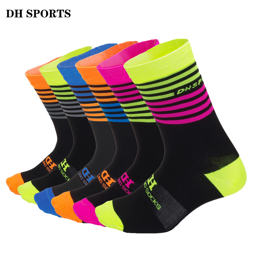 1493348bc284 DH SPORTS Men Women Quality Professional Racing Cycling Socks Breathable  Road Bicycle Outdoor Sport Socks Mountain Bike Sock