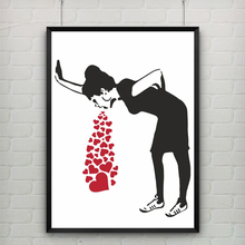 Love Sick by Banksy Wall Art Canvas Modern  Art Print Poster Bar, Office, Living Room Decor, Home Decoration, frame not included недорого