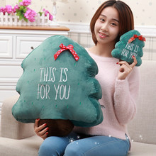 1pc super cute  Xmas Christmas Tree plush pillow  Creativel Pillow Case Cushion cover christmas gifts for kidz girl boy