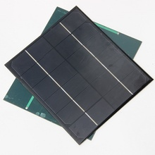 Wholesale 6V 6W Monocrystalline Solar Cell Battery Panel Charger For Mobile Phone Education Study Kits 10pcs/lot Free Shipping