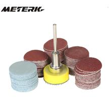 "100PCS 25mm Sander Disc Sanding Pad sandpaper with 1inch Abrasive Polishing Pad Plate 1/8"" Shank Electric Grinder dremel sanding"