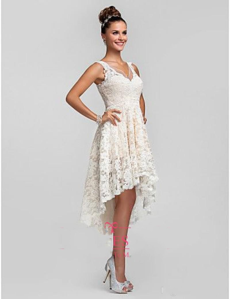 f5db0c2e502 2016 Summer High Low Lace Beach Wedding Dresses Plus Size Sexy V Neck Cheap  China Made Vintage Romantic Wedding Bridal Gowns on Aliexpress.com
