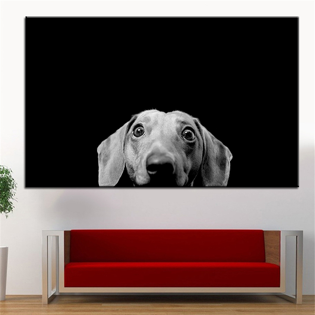 Dachshund Wall Art aliexpress : buy large size printing oil painting dachshund