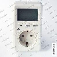 Saving Energy Mini WATT Electricity Power Energy meter,current power factor meter 4mm round plug EU Version D02B